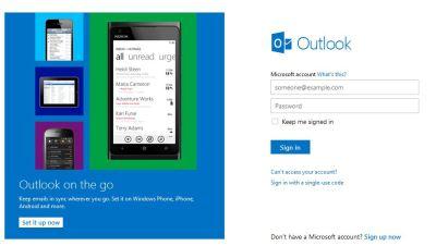 Outlook.com Homepage