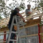 Installation de la toiture 2