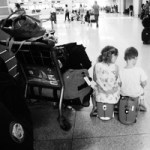 Kids at the Cancun Airport