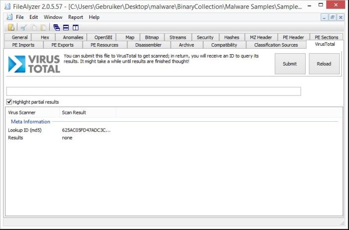 Basic Malware Analysis Tools - FileAlyzer