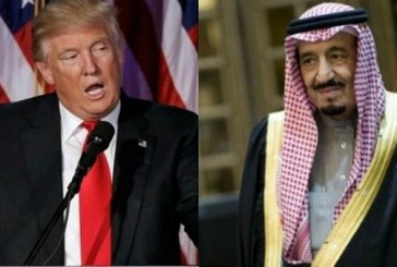اتصال هاتفي بين ترامب والعاهل السعودي الملك سلمان