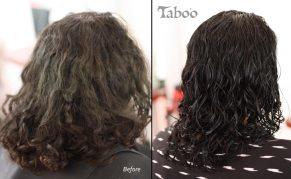 Curly hair cut photo