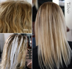 Extra-light balayage highlights
