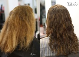 Foil hair highlighting colour result photo