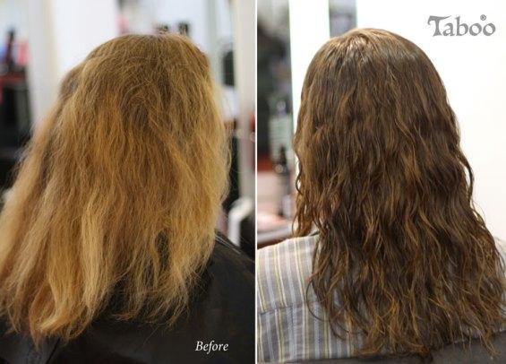 Foil hair highlighting colour result photo