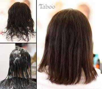 Hair straightening result
