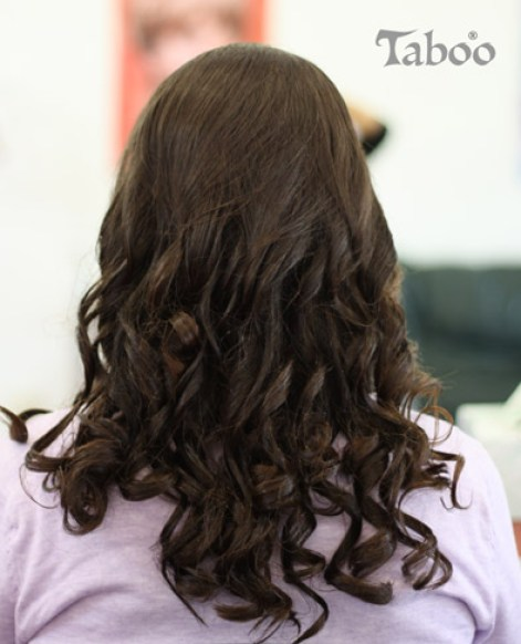 hair updo curls brunette photo