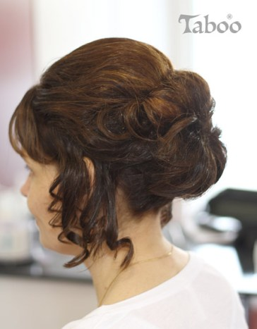 hair-up design for a formal ball