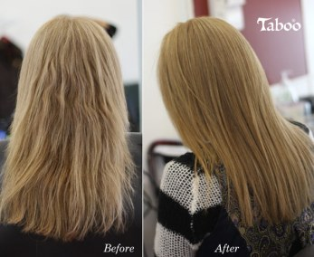 Hair straightening by Tina Fox