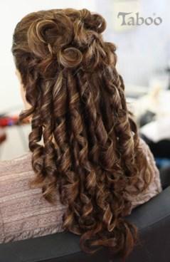 updo hair design for long hair