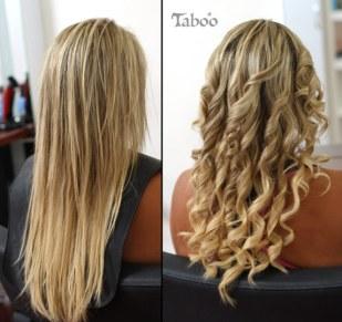 Updo flowing curls photo