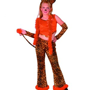 Child Leopard Rock Star Girl Costume