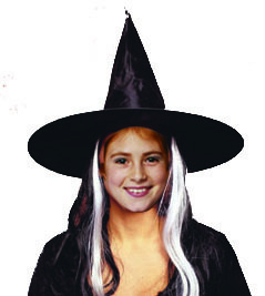 Child Witch Hat with wig