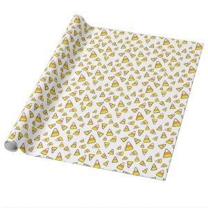 candy corn wrapping paper