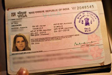 søke visum til india