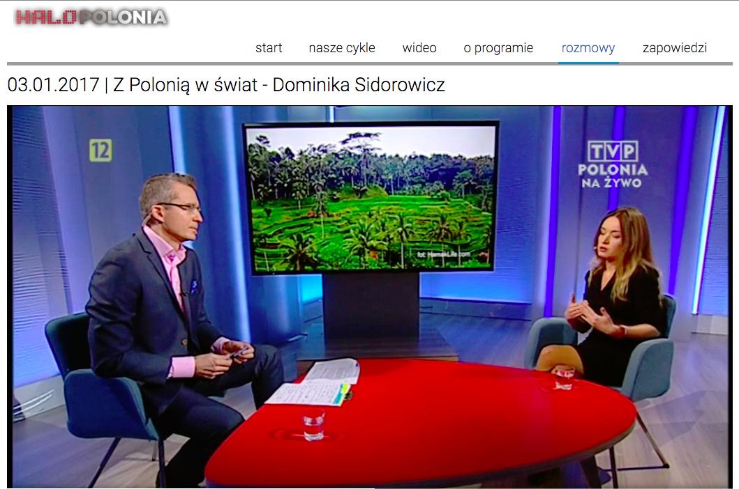 Hamak Life, czyli Dominika Sidorowicz w programie Halo Polonia.