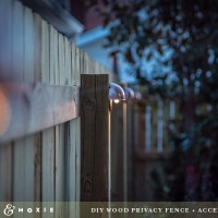DIY Wood Privacy Fence with Accent Lighting