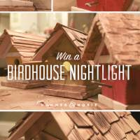 Win a Decorative Birdhouse Nightlight