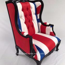 A 1 Black Union Jack Chair Blue White Red Flag Hampshire Barn