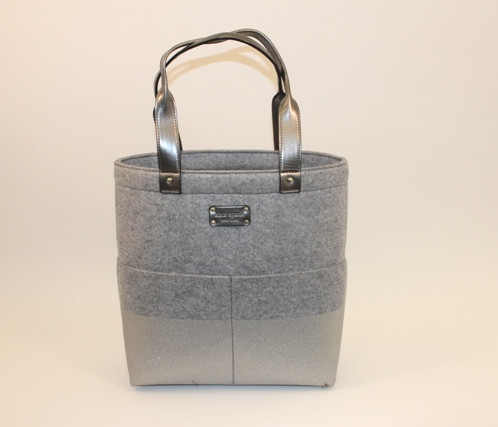 Kate Spade - Frosted Felt Dipped Bou Shopper in Heather Grey