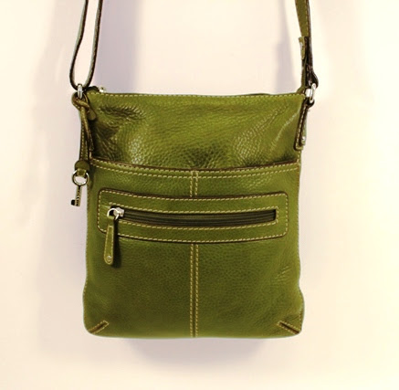 Fossil - Green Leather Crossbody