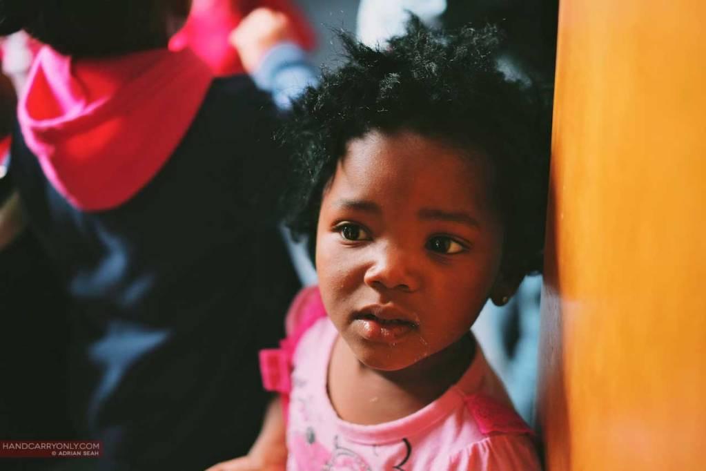 Little girl of Kurland Village South Africa