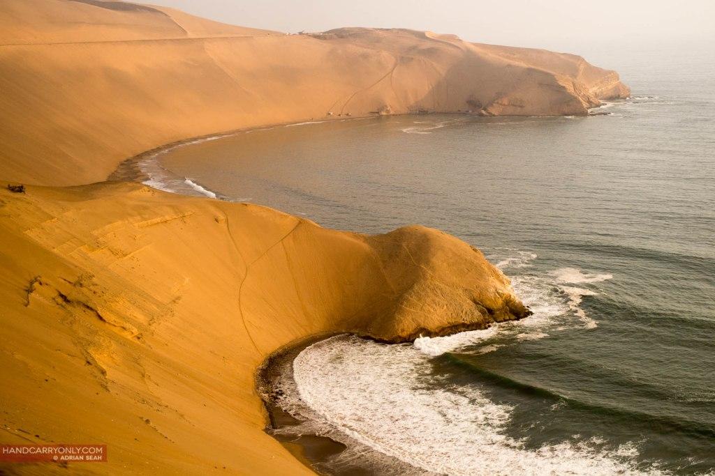 sand dunes outside lima peru