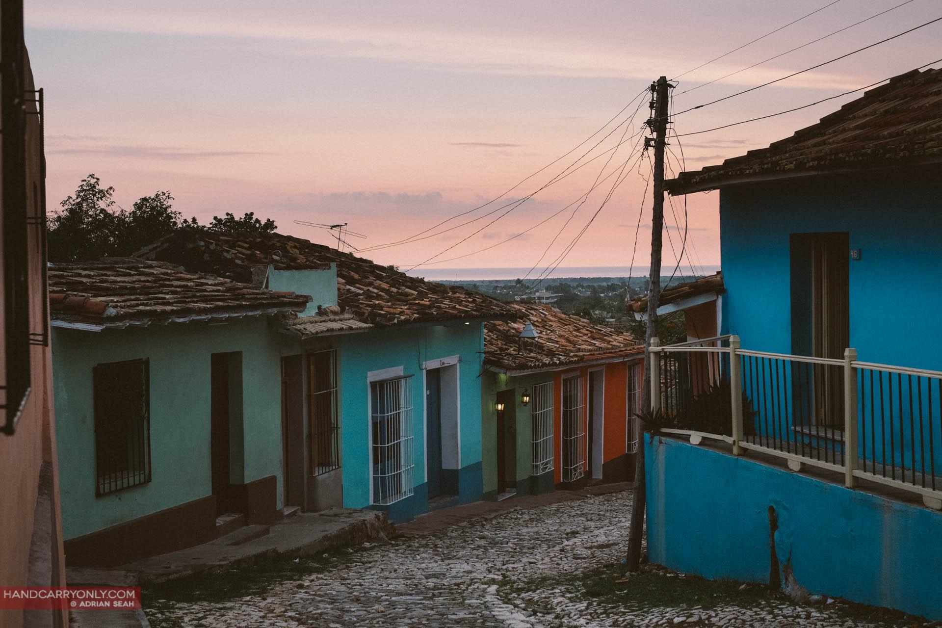 dusk cobbled streets trinidad cuba