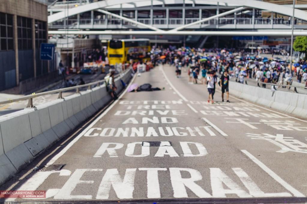 empty road protestors occupycentral
