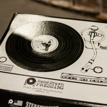 "Limited Edition Box : Hand Drawn Pressing ""Vinyl Record Manufacturer"" Spring 2017 // Courtesy Austin James, CrateDiggersDallas.com"