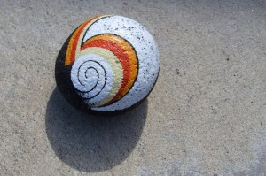 koru hand painted rocks