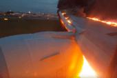 Boeing 777 landet med full fyr i motor og vinge