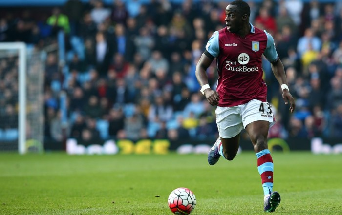epa05209690 Aston Villa's Aly Cissokho during the English Premier League soccer match between Aston Villa and Tottenham Hotspur at The Villa Park Stadium in Birmingham, Britain, 13 March 2016.  EPA/TIM KEETON  EDITORIAL USE ONLY. No use with unauthorized audio, video, data, fixture lists, club/league logos or 'live' services. Online in-match use limited to 75 images, no video emulation. No use in betting, games or single club/league/player publications EDITORIA
