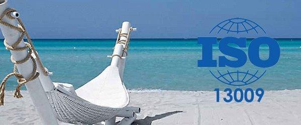 Διαφήμιση της πιστοποίησης ISO οργανωμένων παραλιών από ιταλικό ιστότοπο