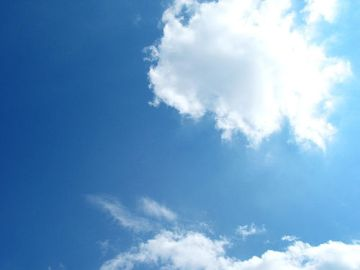 Picture of a brilliantly blue sky