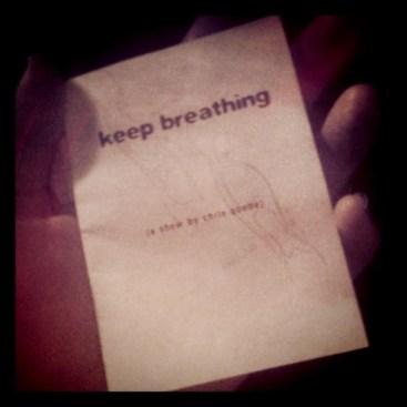 One of the zines Chris handed out after Keep Breathing