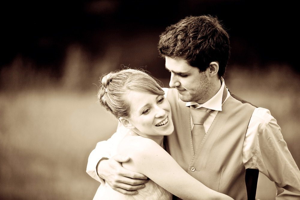 Bride & Groom sepia