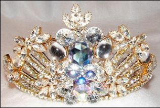 Gorgeous sparkling tiara by fashion jewelry designer Wendy Gell