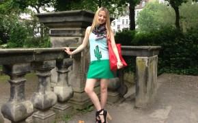 Braccialini scarf & Sonia Rykiel dress