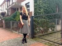 bimba & lola bag & H&M skirt