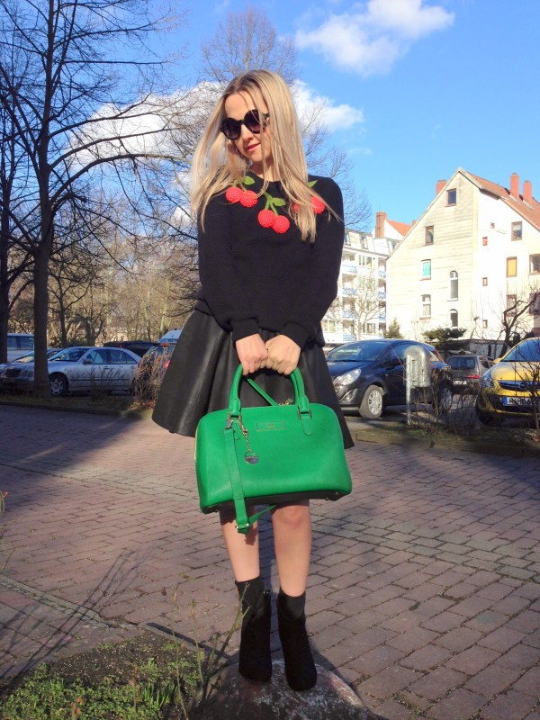 DKNY bag & ASOS sweater
