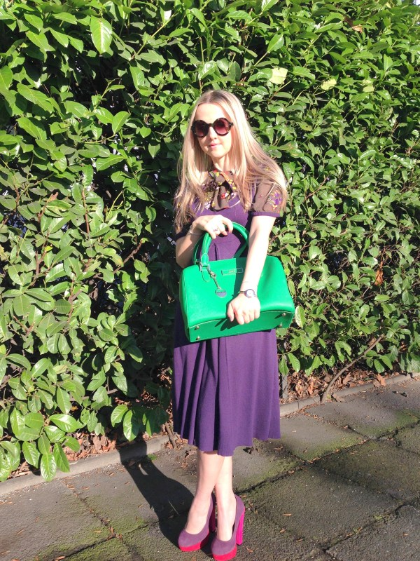 DKNY bag & Miss Sixty dress