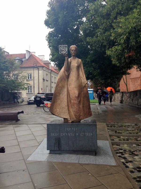 Statue Marie Skłodowska-Curie