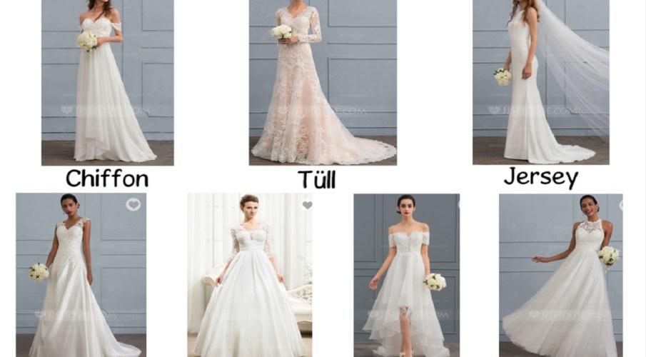 Brautkleider – Welcher Stoff passt zu welcher Jahreszeit am besten?