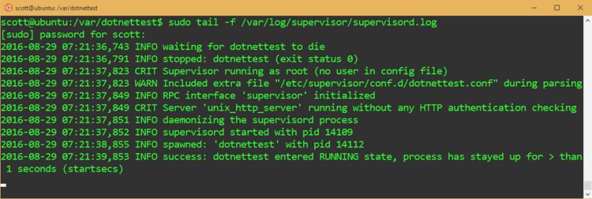 Hey it's dotnet on linux