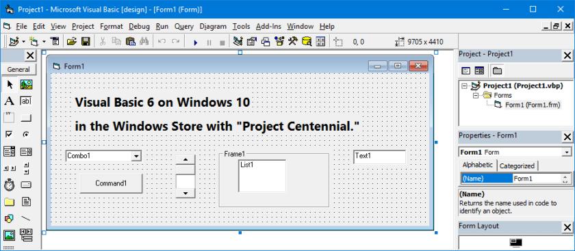 Visual Basic 6 on Windows 10