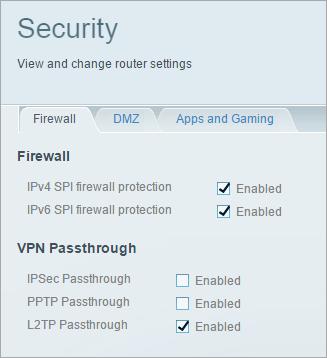 L2TP Passthrough