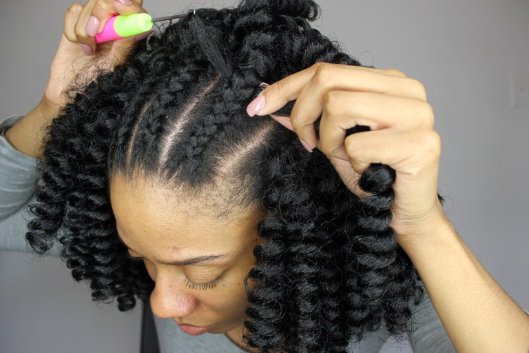 Crochet Braids Underneath : How To Install Curlkalon Crochet Braids - Happily Ever Natural