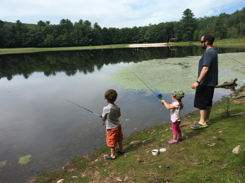 Fishing at the lakehouse, WhiteHaven, PA | HappilyFrazzled.com