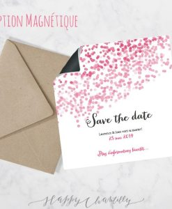 faire part sur mesure save_the_date_confettis_2_magnetique_faire_part_mariage_chevron_degrade - Faire Part De Mariage Electronique